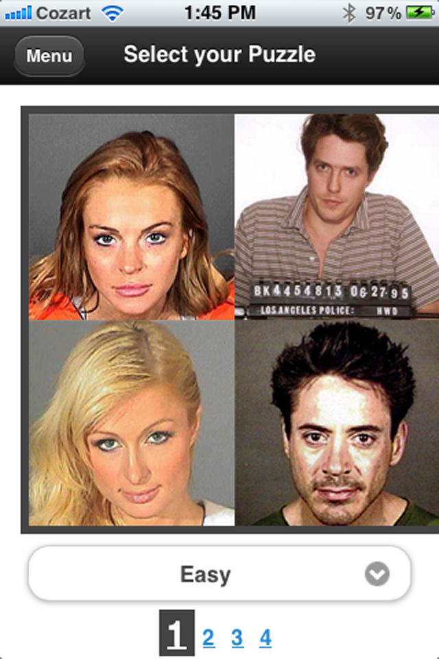Screenshot Celebrity Mug Shots the Game